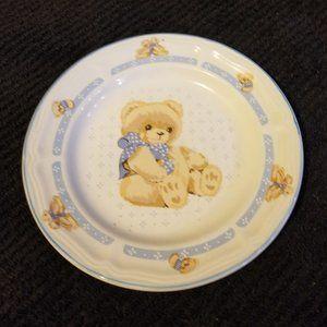 Vintage Tienshan Stoneware Collectable Bear Plate